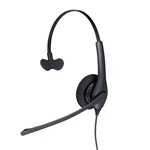 Jabra Biz 1500 QD On-Ear Mono Headset mit Schnelltrennkupplung - Kabel-Kopfhörer mit geräuschunterdrückendem Mikrofon und Lautstärkespitzenschutz für Tischtelefone