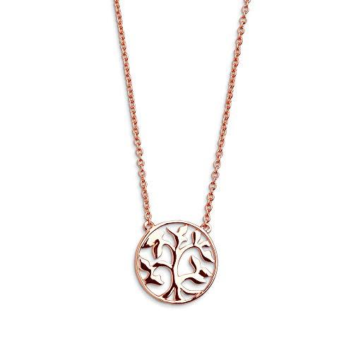 XENOX XS2896R Damen Collier Lebensbaum Symbolic Power Sterling-Silber 925 Rose 45 cm