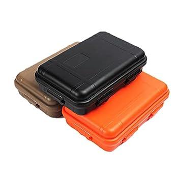 Boîte à langer en plastique extérieure imperméable à l'eau survie à l'air survie Conteneur Conteneur de conteneur Coffret boîte de survie en plein air Boîte 3PCS Randonnée de randonnée