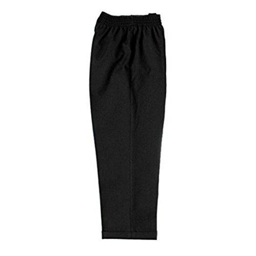 Pantalones de gabardina, medio elásticos, corte estándar, para la escuela - De 3 a 14 años (negros, grises, marrón carbón y azul marino) Negro negro edad 3-4-8/19 cintura
