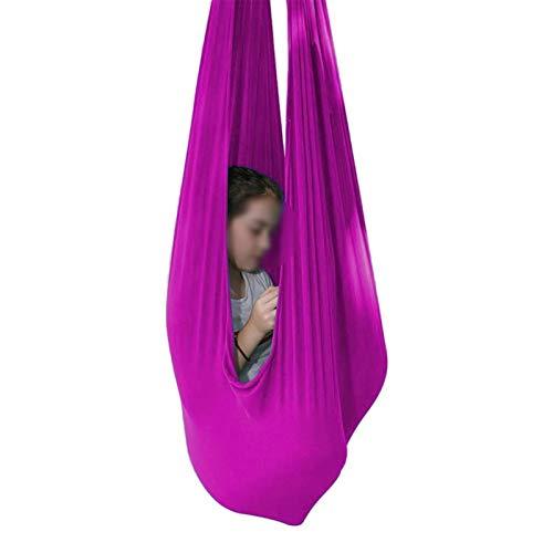 ZCXBHD Oksmsa Columpio de Terapia de Interior para Niños Y Adolescentes Hamaca Suave con Necesidades Especiales para Niños Yoga Integración Sensorial Camping Al Aire Libre Rosa Oscuro