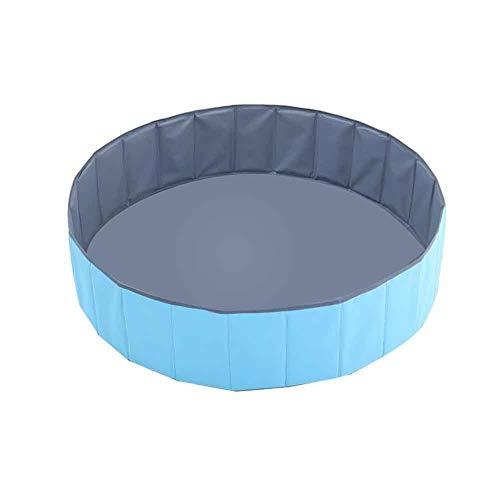 Piscina plegable para bebé, piscina de pelota para bebé, piscina portátil de pelota, paño de Oxford de doble capa, para niños y niños, valla interior para jugar 100 cm gris azul