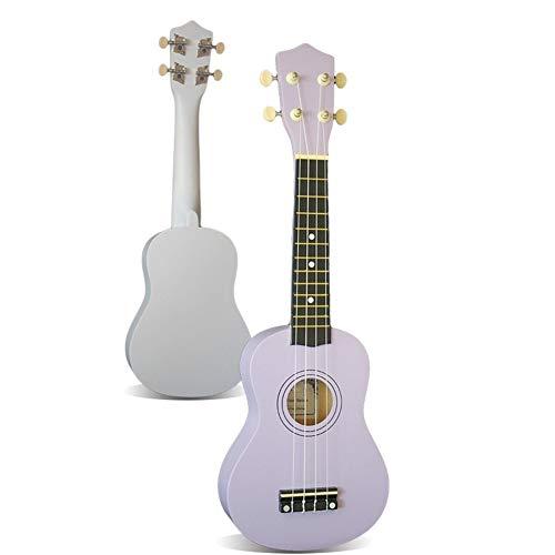 -Ukulele 1 Stück Sopran-Ukulele Palisander Acoustic Nylon 4 Strings Ukulele Bass-Gitarre Musikinstrumente for Anfänger oder Basic Spieler Anfänger und Fortgeschrittene Ukulelen (Color : Purple)