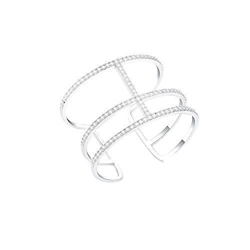 CHYIAKlassische Armbänder, Verbreiterte Beschichtung Platin Armreif Für Frauen, Hand Eingelegt Mit Zirkonia, Schmuck Geschenk Für Mädchen