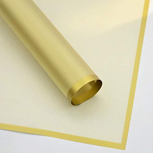 20st plastic bloem waterdicht inpakpapier eenvoudige rand bloem verpakking ambachtelijke papier cadeau benodigdheden Moederdag, 062, china