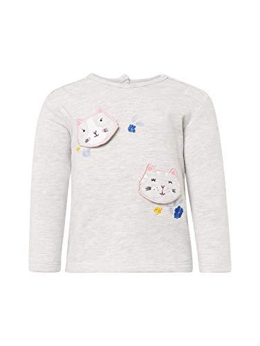 TOM TAILOR Kids Baby-Mädchen Placed Print Sweatshirt, Beige (Lunar Rock Melange 8439), (Herstellergröße: 80)