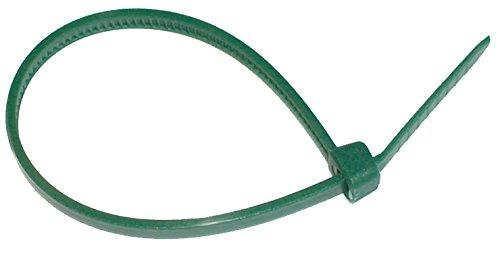 Biotop Kabelbinder oder Fesseln für Garten, 50Stück, 25cm x 3mm, grün, 1x 1x 1cm, B2147