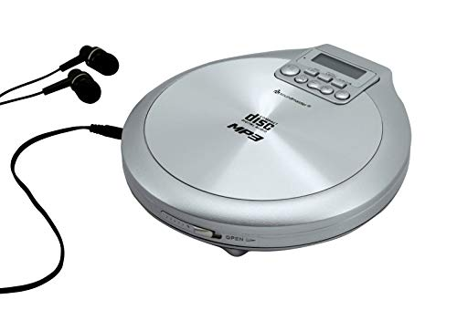 Soundmaster CD9220SI | CD-Player tragbar batteriebetrieben | CD, CD-R, CD-RW, MP3 | Funktion zum Laden der Akkus | Hörbuchfunktion Resumefunktion