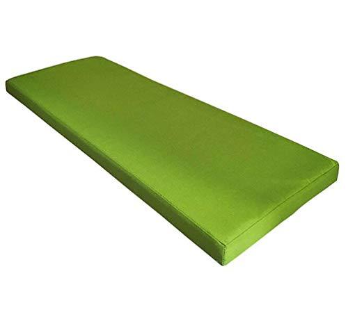 Weich Schaumstoff gepolstert, Gartenmöbel, Sitzpolster Rückenlehne langes Kissen Non Slip Bay Fenster Kissen,Volltonfarbe Schaumpads 5cm Dick-Grün 80x40×5cm
