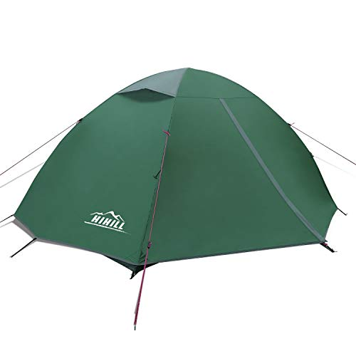 HiHiLL 2 Person Tent, Dome Lightweight Tents with Carry Bag, Easy Set Up, Anti-Mosquito and Waterproof Tent for Camping, Hiking, Backpacking, and Traveling