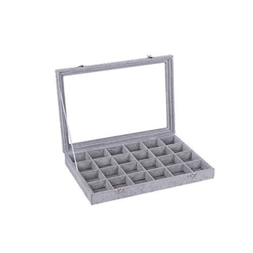 Wffo Jewelry Box - Caja de Almacenamiento para artículos de Escritorio, Color Gris