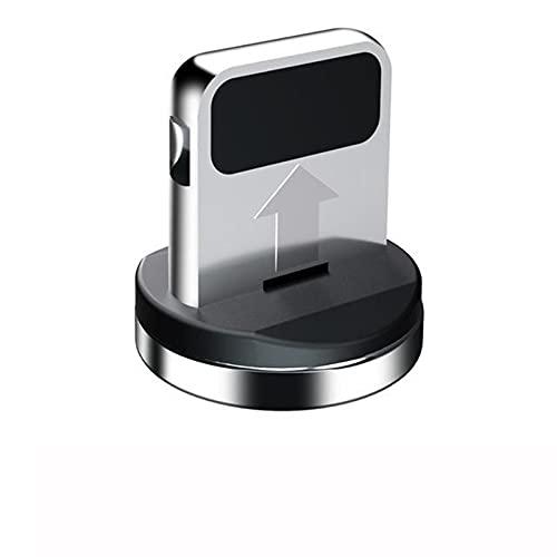 Cable magnético Tipo C Micro Cable USB para teléfono Android USB C Carga RÁPIDA Carga Universal Cable Carga DE Cargo para Alambre RÁPIDA (Color : For iOS Plug No Wire, Length : 1m)