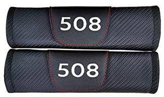 2 Piezas con coche Logo Almohadillas Cinturón Seguridad, para Peugeot 508, cubierta protectora de cinturón de seguridad cómoda suavey, accesorios de modelado decorativos