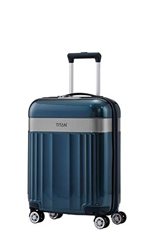 "TITAN Gepäckserie ""Spotlight Flash"": Edle TITAN®-Trolleys und Beautycases in knallbunten Trendfarben Koffer, 55 cm, 37 Liter, North Sea"
