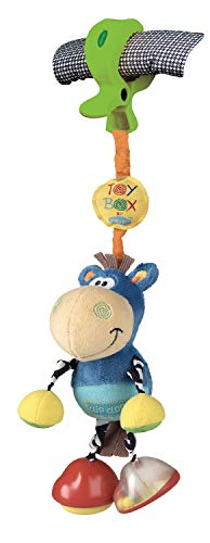 Playgro Kinderwagenanhänger Klipp Klapp Pferd, Ab 0 Monate, Dingly Dangly Clip Clop, Blau/Bunt, 40145