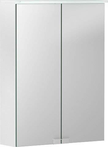 Geberit Optie Basis spiegelkast met verlichting, twee deuren, breedte 50cm, 500257001-500.257.00.1