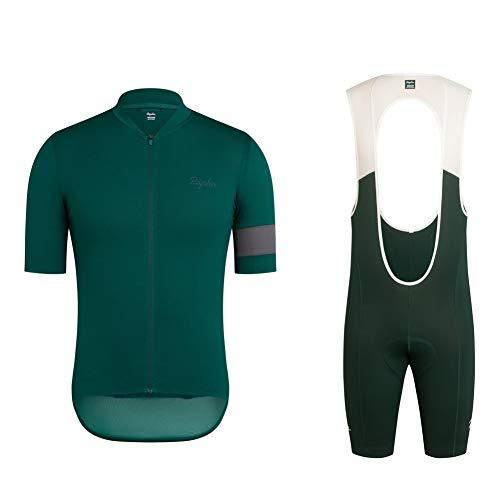 Men Cycling Jersey Suit Short Sleeve Quick Dry Cycling Clothing Mountain Bike Shorts MTB Racing Gear Team Jersey Casual Riding Kits (2XL)
