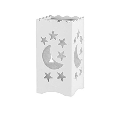 LEDMOMO Mond und Stern Tischlampe, Holz Tischleuchte kreativ Stern Mond Nachtlicht mit Schalter für Schlafzimmer Kinderzimmer Tischdeko (weiß)