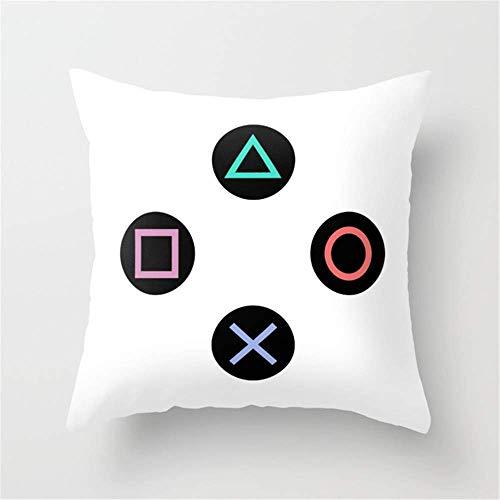 Jacklee Federa per Cuscino da Divano con Play with Playstation Controller Buttons, 45 x 45 cm