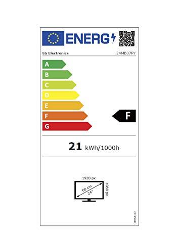 LG 24MB37PY-B 60,45 cm (24 Zoll) AH-IPS LED Business Monitor (DisplayPort, DVI-D (mit HDCP), VGA, USB Hub 2.0, 5 ms, Backlight, 16:9,1920x1080) Schwarz