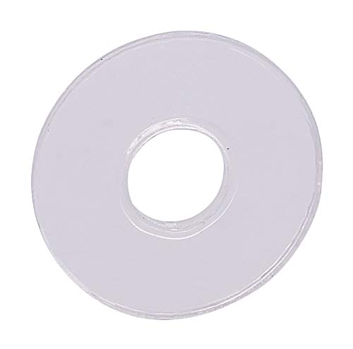 "CRL 3/4"" Clear Vinyl Replacement Washer for 3/4"" Standoff Cap Assemblies - 10 Pack"