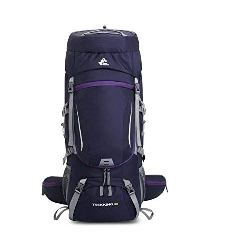 75L Camping Backpack Hiking Bag Sport Outdoor Bags With Rain Cover Travel Climbing Mountaineering Trekking Camping Bag gym backpack hiking bags (Color : 60L Purple)