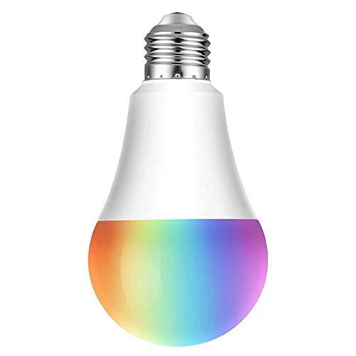 Bombillas Colores LED 10W, E27 RGBW controlada por APP, sincronizada con la música, multicolor Cambio de Color Regulable...