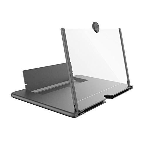 Guangcailun Ausziehbare Telefon Screen Amplifier Folding Mobile Magnifier 3D Vergrößern Stand 10in & Black