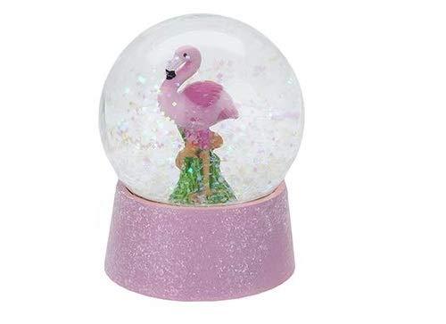 Toyland® 8,5 cm (3 Zoll) Flamingo-Wasserball - Glitzer-Schneekugel - Inneneinrichtung