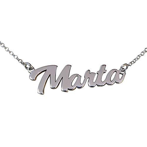 Collar con nombre personalizado en plata de ley 925. Día de la madre-RINCONDELARTESANO.ES