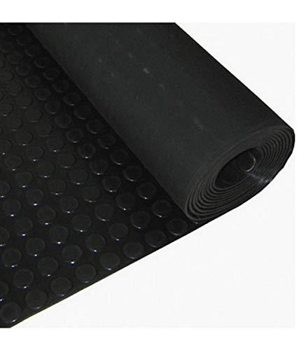 WOLFPACK LINEA PROFESIONAL 5292000 Suelo Goma Circulos 1,20x10 Metros 3 mm. de Grosor Color Negro