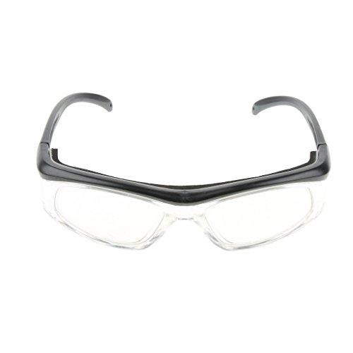 H HILABEE Gafas Protectoras Uv Lentes De Seguridad Lentes ópticas Reemplazables Negro Y Gris - Gris oscuro