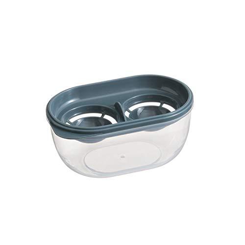 YUMEIGE Kosmetische Aufbewahrungsbox Eiweiß- und Yolk-Separator, Haushalts-Protein-Filter, Küchen-Back-Eier-Separator, Ei-Flüssig-Trennungsaufbewahrungsbox, transparentes Aufbewahrungsbox