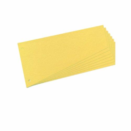 Herlitz 10838381 Trennstreifen Trapez 120x230 mm, Inh.100, gelb