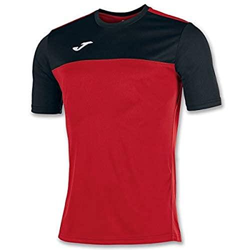 Joma Winner Camisetas Equip. M/c, Hombre, Rojo-Negro, XL