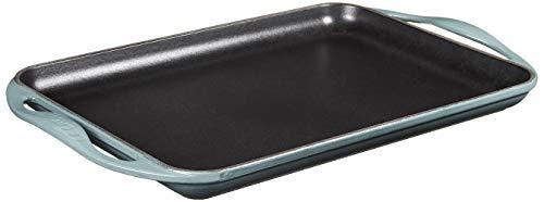 Le Creuset Enameled Cast Iron Rectangular Skinny Griddle, 13' x 8.5', Ocean