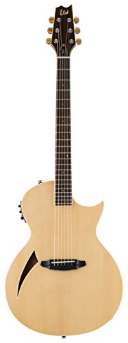 esp acoustic guitar pickups ESP LTD TL-6 Thinline Acoustic Electric Guitar, Natural