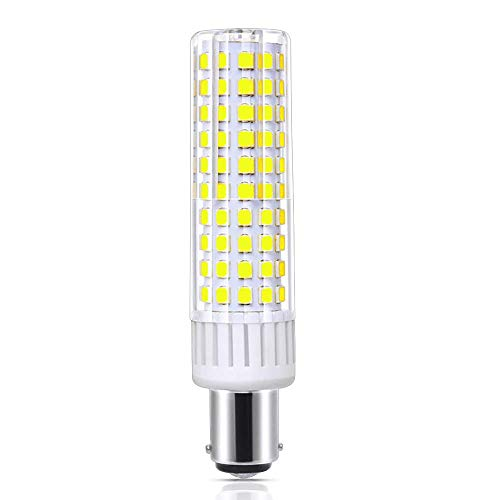 120V 8W BA15D LED Bulb 100W-120W Halogen Bulbs Equivalent, Ba15d Double Contact Bayonet Base, for Chandelier Crystal Ceiling Light, Dimmable Daylight 6000k
