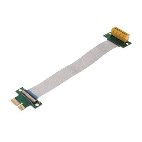 KESOTO PCI-E 1X Steckplatz Riser Card Extender Verlängerungskabel Extender Adapter Grafikkarte