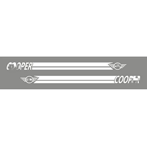 AKKNE para Mini Cooper S One JCW R50 R55 R56 R57 R60 F55 F56 Coche Lateral Puerta Cuerpo Falda Rayas Largas Vinilo Pegatinas, Side Door Body Skirt Stickers Decoración Estilo Accesorios 2Pcs