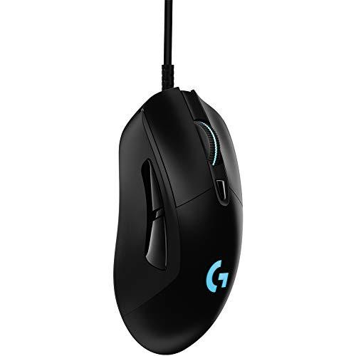 Logitech G403 HERO Gaming-Maus mit HERO 25K DPI Sensor, LIGHTSYNC RGB, geringes Gewicht von 87g und optionales 10g Gewicht, geflochtenes Kabel, PC/Mac, Schwarz - 2