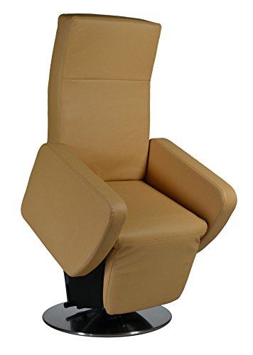 elektrischer Aufstehsessel Fernsehsessel Relaxsessel Pflegesessel mit Aufstehhilfe Rimini Lift bis 130 kg (50 cm Sitzhöhe/mit Stecker, Kunstleder beige)