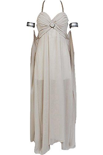 Cosplaysky Game of Thrones Costume Mother of Dragons Daenerys Targaryen White Dress Medium