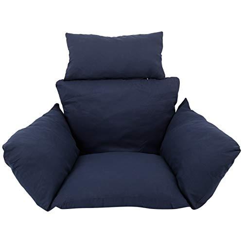 Cojín de asiento para silla, cojín para colgar, hamaca para silla, columpio, jardín, exterior, suave, cojín de asiento grueso para silla con almohada para silla de oficina, apoyo lumbar (color: 7)