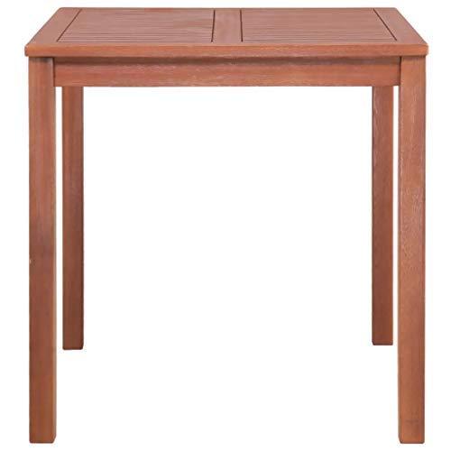 CFG - Mesa de comedor cuadrada para jardín, mesa de terraza, mesa de madera | mesa de comedor con balcón | madera maciza de acacia 80 x 80 x 74 cm