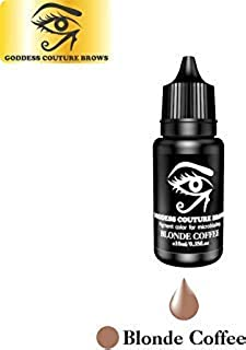 GODDESS COUTURE BROWS Microblading/Microshading Pigment | Organic Medical-Grade Permanent Makeup Tattoo Ink (Blonde Coffee) |10ml