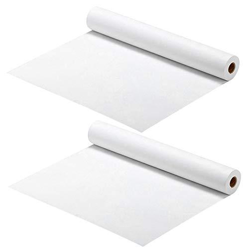 TOYANDONA 2 Stück Weiße Papierrolle für Kinder Staffelei Zeichnung Aquarell Papier DIY Malerei Kunsthandwerk Projekte 45Cm X 5M