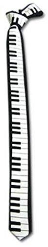 Piano Keyboard Key Board TIE Necktie for 80's Party Dj