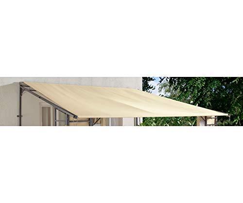 GRASEKAMP Qualität seit 1972 Ersatz-Dach Rollpavillon 3x3m Sand Bezug Plane