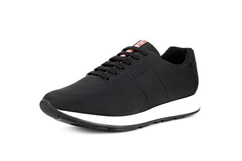 Prada Men's Nylon Piuma Trainer Sneakers, Nero/Bianco (Black/White) 4E3355 (12.5 US / 11.5 UK)